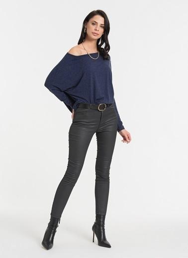 Styletag Kayık Yakalı Bluz Lacivert